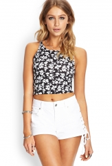Black and white floral top at Forever 21