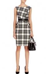 Black and white graphic dress at Karen Millen