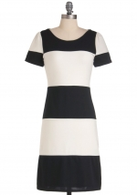 Black and white striped dress from Modcloth at Modcloth