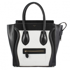 Black and white tote at Celine