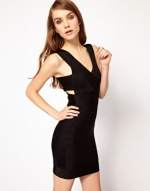 Black bodycon dress by French Connection at Asos