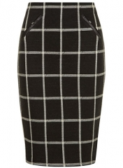 Black check skirt at Dorothy Perkins