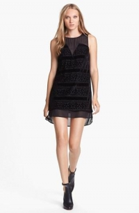 Black chiffon shift dress by ASTR at Nordstrom