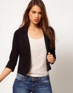 Black cropped blazer at ASOS at Asos