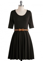 Black elbow sleeve dress at Modcloth