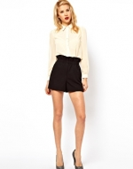 Black high waisted shorts from ASOS at Asos