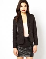 Black jacquard blazer by Glamorous  at Asos