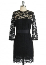 Black lace dress at ModCloth at Modcloth