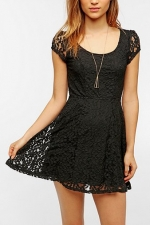 Black lace dress at Urban Outfitters at Urban Outfitters