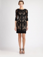 Black lace dress by Sue Wong at Saks Fifth Avenue