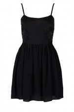 Black lace dress from Topshop at Topshop