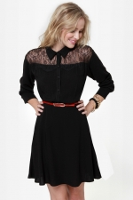 Black lace shirtdress from Lulus at Lulus