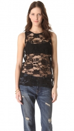 Black lace top by BB Dakota at Shopbop