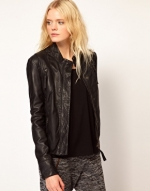 Black leather jacket from ASOS at Asos