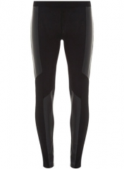 Black leather look panelled leggings at Dorothy Perkins