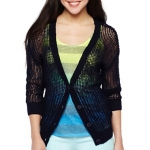 Black mesh cardigan at JC Penny at JC Penney
