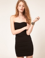 Black mini dress from ASOS at Asos