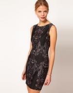 Black mirror print dress at ASOS at Asos