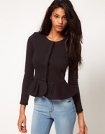 Black peplum jacket from ASOS at Asos