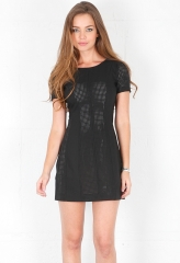 Black perforated dress by Style Stalker at Singer 22