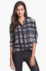 Black plaid Reese shirt by Equipment at Nordstrom