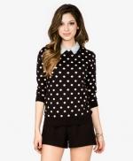 Black polka dot sweater at Forever 21 at Forever 21
