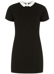 Black ponte shift dress at Dorothy Perkins