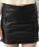 Black quilted mini skirt from Forever 21 at Forever 21