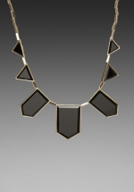 Black resin necklace by House of Harlow at Revolve