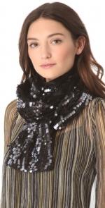 Black sequin scarf by Rachel Zoe at Shopbop