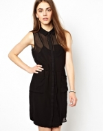 Black shirt dress by Vero Moda at Asos