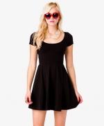 Black short sleeve dress at Forever 21