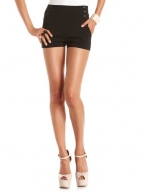 Black side button shorts like Rachels at Charlotte Russe