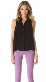 Black sleeveless top by Splendid at Shopbop