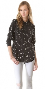 Black star print shirt by Equipment at Shopbop