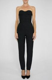 Black strapless jumpsuit at Colton Dane