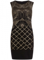 Black stud print dress from Dorothy Perkins at Dorothy Perkins