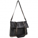Black studded crossbody bag by MG Collection at Amazon
