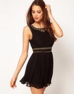 Black studded dress at Asos