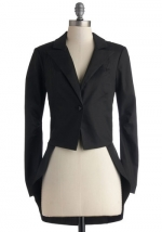 Black tailed blazer at Modcloth