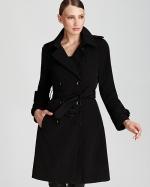 Black trench coat from Bloomingdales at Bloomingdales