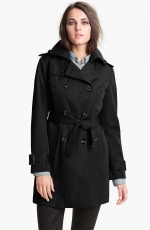 Black trench coat from Nordstrom at Nordstrom