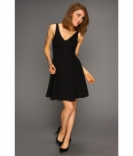 Black vneck dress at Zappos