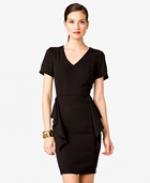 Black vneck dress from Forever 21 at Forever 21