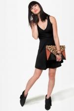 Black vneck dress from Lulus at Lulus