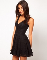 Black vneck dress like Elenas at Asos