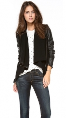 Blank Denim Vegan Leather andamp Ponte Jacket at Shopbop