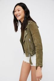 Blank NYC Suede Moto Jacket at Free People