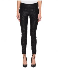 Blank NYC Vegan Leather Lace-Up Skinny in Easy Street at Zappos