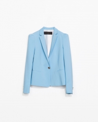 Blazer with gathered shoulders at Zara